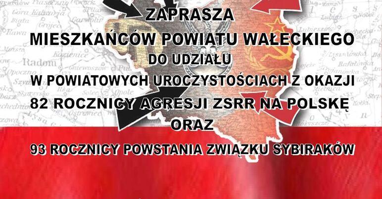 Powiatowe Uroczystości z okazji 82 rocznicy agresji ZSRR na Polskę oraz 93 rocznicy powstania Związku Sybirakówz