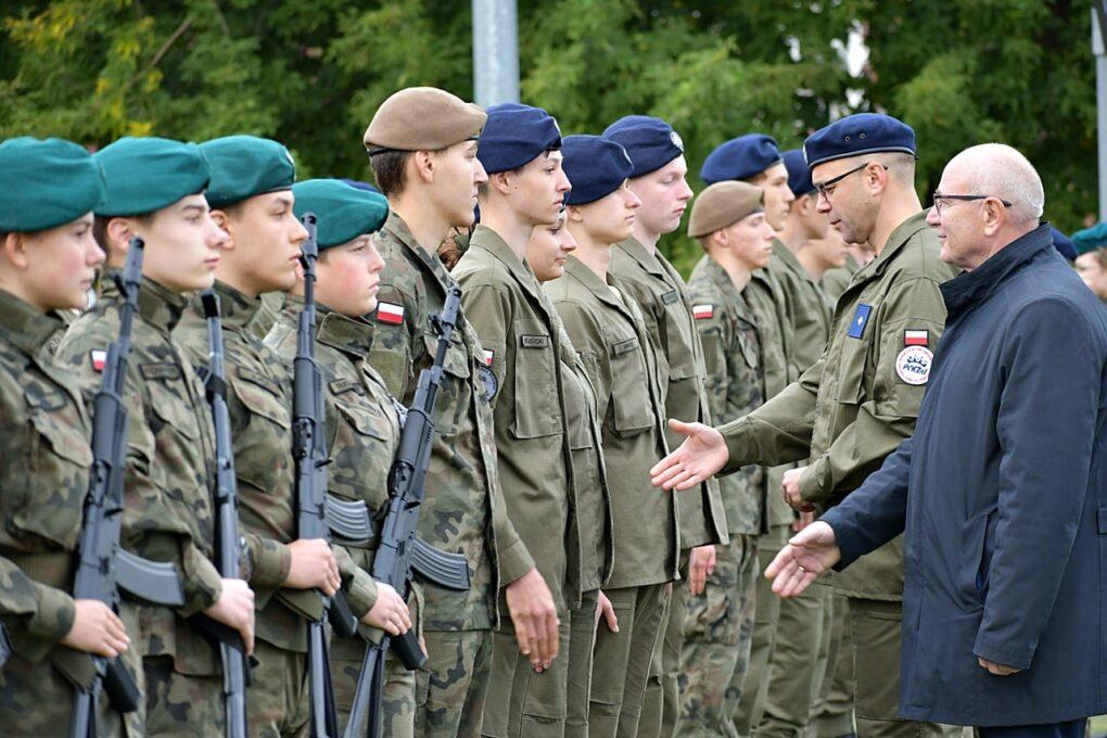 Uroczystość ślubowania oddziałów przygotowania wojskowego
